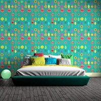 Wallpaper Removable, Self Adhesive, Vinyl, Peel & Stick Paisley Ornaments