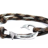 Brown Camo Fish Hook Bracelet (New)