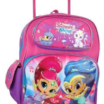 "Nickelodeon Shimmer and Shine Toddler 12"" Rolling backpack"