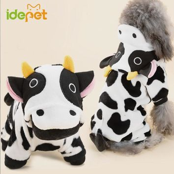 Cute Pet Dog Costume Warm Flannel Hoodies Outfit For Dog Winter Dog Clothes Puppy Jacket Chihuahua Clothes for Small Dog 21S2