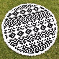 vidorra round beach towel by oh lay