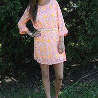 All Eyes On Me Dress, orange