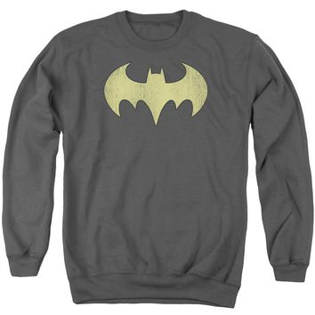 Dc - Batgirl Logo Distressed Adult Crewneck Sweatshirt