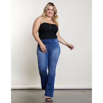 Plus Size Kick Back Flare Jeans
