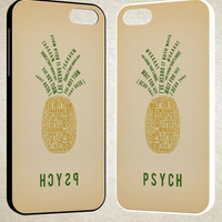 Psych Pineapple A1762 iPhone 4S 5S 5C 6 6Plus, iPod 4 5, LG G2 G3, Sony Z2 Case