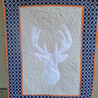 Baby quilt - Boy - Deer crib bedding item - Deer crib quilt - Real tree - Browning - Modern - John Deere - Blanket - Custom made