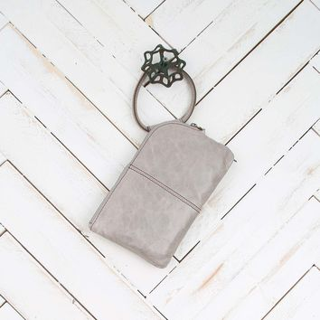Hobo Sable Soft Ring Wristlet in Cloud | Altar'd State