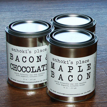 Maple Bacon -- Maple Bacon Scented Soy Wax Container Candle 16 oz