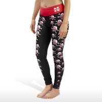 NEBRASKA HUSKERS WOMENS OFFICIAL NCAA THEMATIC PRINT LEGGINGS