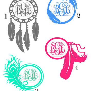 Shop Free Car Decal Stickers On Wanelo - Monogram car decal sticker
