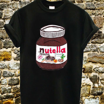 I Love Nutella Tee Shirt Black and White Tshirt For Men and Women Unisex Size from pgupmydream
