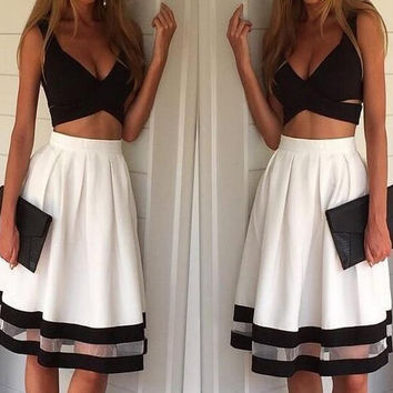 A99994 Hot straps two piece sexy dress