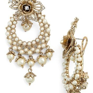 Marchesa Faux Pearl Chandelier Earrings | Nordstrom