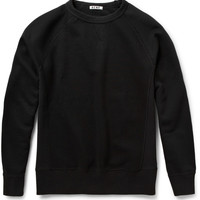 Acne College Loopback-Cotton Jersey Sweatshirt | MR PORTER