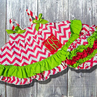 Watermelon Chevron Swing Top Set