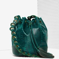 Pun Croc Bucket Bag