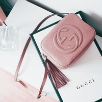 Gucci Women Shopping Fashion Leather Shoulder Bag Crossbody Satchel HZ