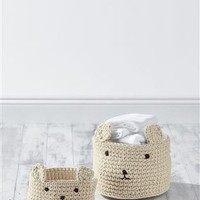 Buy Set Of 2 Knitted Storage Tubs from the Next UK online shop