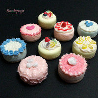 Assorted Dollhouse Miniature Cakes, Petite, Mini, Pastry, patisserie, 1/12 scale, 1:6 scale, Doll food, Cafe, Bakery, Cute, Kawaii,Decoden
