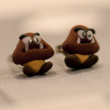 Goomba Earrings Mario