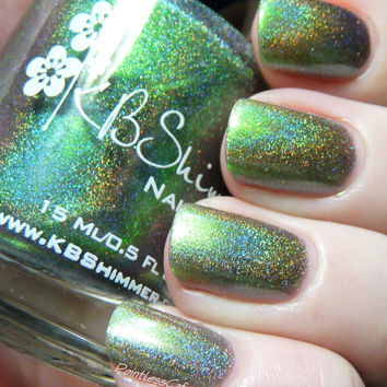 Pretty In Punk Multichrome Holographic Color Shifting Nail Polish- 0.5 oz Full Sized Bottle