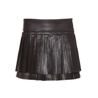 Diana pleated leather skirt