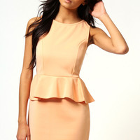 Nikki Sleeveless Peplum Dress