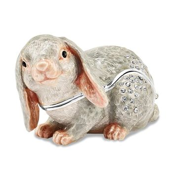 Bejewel Crystal Floppy Earred Bunny Trinket Box