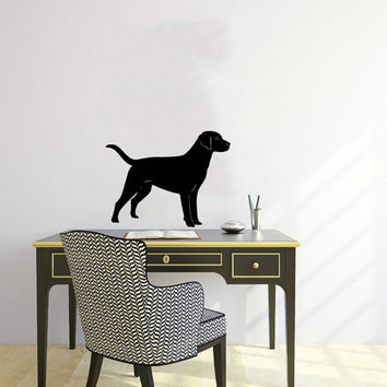 Vinyl Decal Cute Dog Labrador Animal Pet Shop Housewares Home Wall Art Decor Stylish Sticker Unique Design for Any Room V574