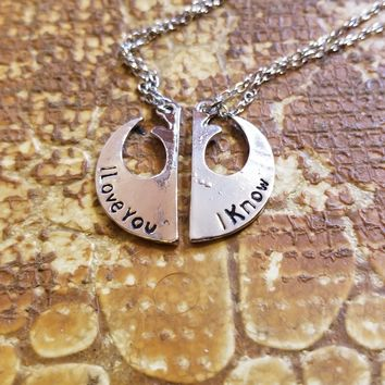 Star Wars I Love You/I Know Couples Charm Necklace