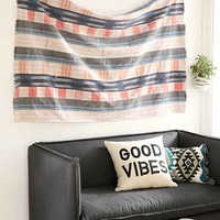 Vintage Washed + Faded Plaid Tapestry- Assorted One