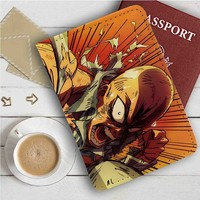 One Punch Man Saitama Leather Passport Wallet Case Cover