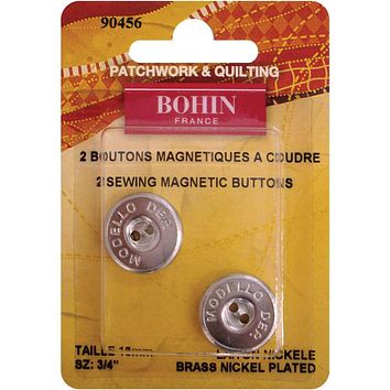 """Bohin Magnetic Sew-On Buttons - 3/4"""" (2 Pack)"""