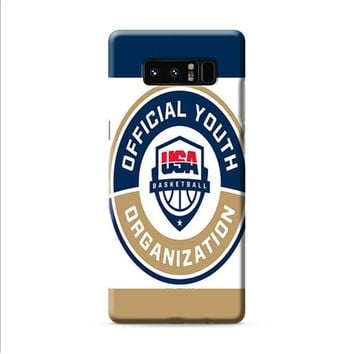 OFFICIAL YOUTH ORGANIZATION USA BASKETBALL Samsung Galaxy Note 8 case
