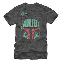 Charcoal Star Wars Typographic Boba Fett Tee - Men | zulily
