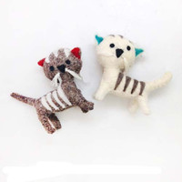 Frisky Kitty Felt Ornaments