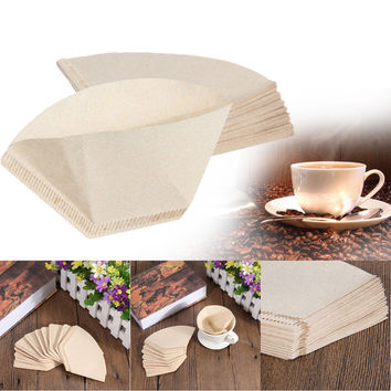 40pcs Coffee Filter Paper Hand-poured Coffee Paper Filter Hand Drip Paper Filter Folded Paper Filter for Kitchen Tools