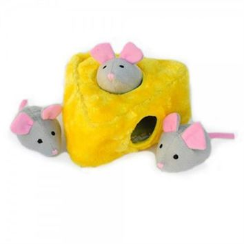 ZippyPaws Burrow Dog Toy - Mice 'n Cheese