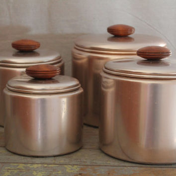 Mirro, The finest Aluminum Made in the U.S.A. Rose/Copper Colored Canister set
