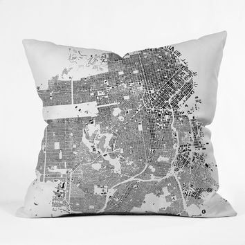 CityFabric Inc San Francisco White Throw Pillow | Deny Designs