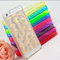 5/5S SE 4'' Prismatic Soft Silicone Cases For iPhone 5 5S SE Case For iPhone5 SE iPhone5S Cover Phone Shell Newest Arrival