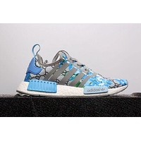GUCCI x Adidas NMD Fashion Trending Casual Print Running Sports Shoes Blue G