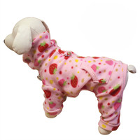 Yummy Strawberry Turtleneck Fleece Dog Pajamas by Klippo | BaxterBoo