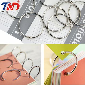 THD 20/30/50 pcs Hinged Rings for DIY Scrapbooks Albums Crafts Making Loose Leaf Binder Binding 25/38/45/55 mm Albums Parts