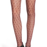 Women's Chelsea28 'Hex Floral' Lace Tights,