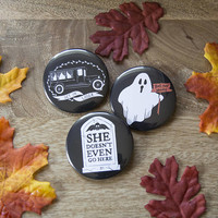 Mean Ghouls - Set of Three Buttons  - Killin Me Softly - KMSxCo