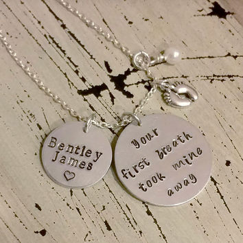 Your first breath took mine away - Necklace/Key Chain-Jewelry
