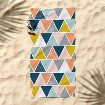 Triangulum Retreat Beach Towel by Heather Dutton