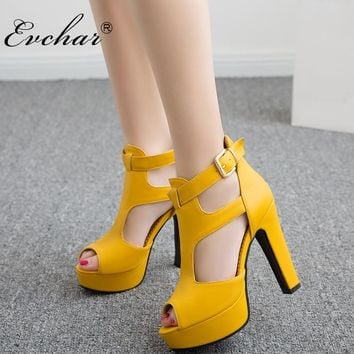 NEw fashion summer gladiator sexy peep toe women's super high heels 3 color platform shoes woman party shoes sandals size 34-50