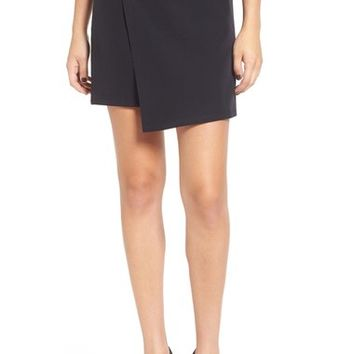 Leith Faux Wrap Miniskirt | Nordstrom
